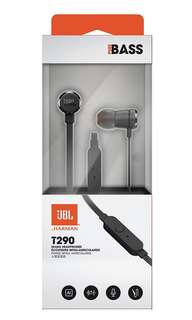 NEW: JBL T290 In-EAR Earpiece Earphone With Extra Bass Function High Quality immediate stock black color