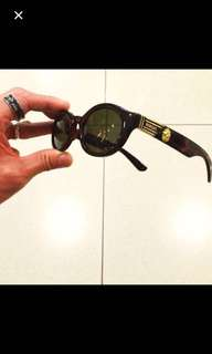 Vintage 90's Gianni Versace VERSUS Tortoise shell sunglasses shades sunnies Made in Italy