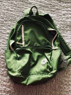 Green converse backpack
