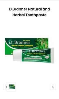 D.Branner natural and herbal toothpaste
