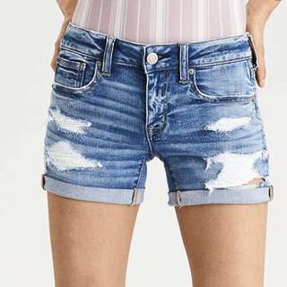 American eagle denim shorts (with lace pockets)