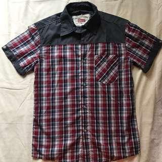 Plaid Short Sleeve Shirt / Kemeja Kotak Lengan Pendek