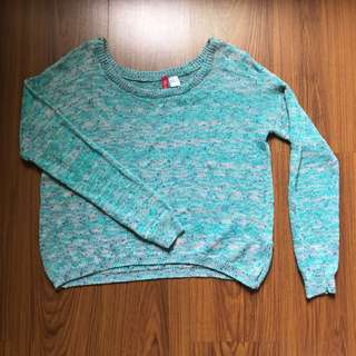 H&M Loose Knit Blue Sweater