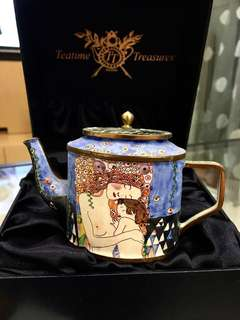 "Goebel TEATIME TREASURES - TEA POT ""Three Ages"" by Gustav Klimt  (handprinted in Germany)"