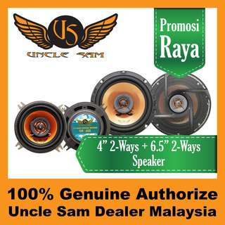 "Uncle Sam 4"" 2-Ways Coaxial Speaker + 6.5"" 2-Ways Coaxial Speaker"