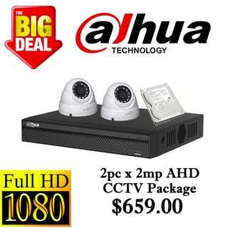 Dahua 2MP x 2pcs AHD CCTV Package 2