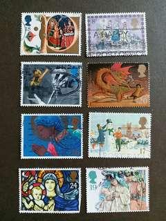 英國郵票 已銷郵票A004