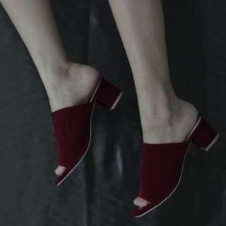 FLASH SALE!! Heels (Cream dan Maroon)