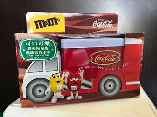 可口可樂Coca Cola汽水車儲存鐵罐經典限量版(可議價)