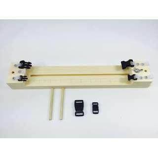 Paracord Jig Wood Bracelet Maker Tool Parachute Cord 550 Buckles