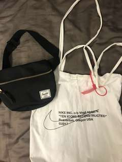 Off white or Herschel bag