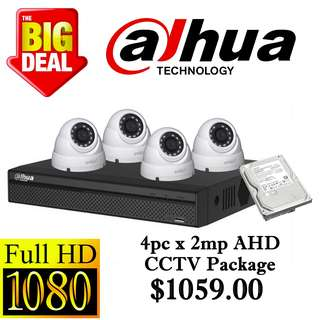 Dahua 2MP x 4pcs AHD CCTV Package 4
