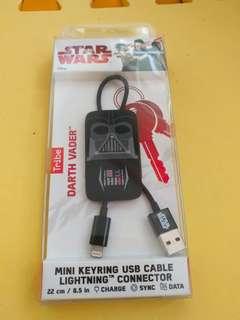 Star War迷你版MFI數據線鎖匙扣