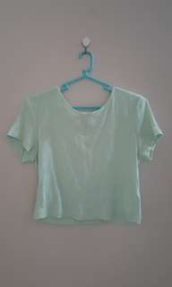 Mint Green Forever 21 Crop Top