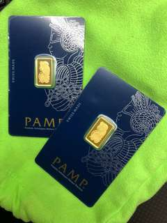 ( PAMP Pure Gold Bars - Gold 999 ) + ( zodiac Tiger, Pig gold coins - 999 Gold )