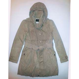 Beige Hooded Trench Coat - 55 (160 / 84A)