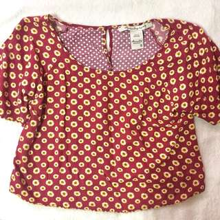 Red sunflower top