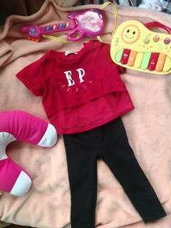 Kids crop top and pants