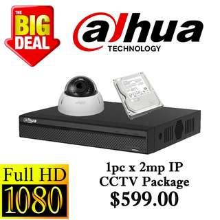 Dahua 2MP x 1pcs IP CCTV Package 1