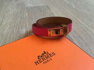 Hermes Bracelet leather pink