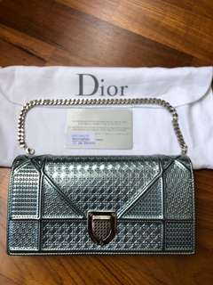 DIOR Cannage Mint Green Wallet On Chain