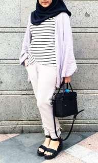 No Brand - Stripes Top Black White