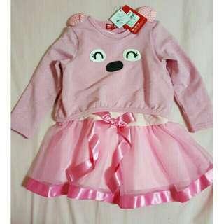 1/2 兩件式洋裝 粉紅色洋裝