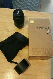 Nikon lens Nikkor afs-dx 55-300mm f/4.5-5.6 with kenko uv filter
