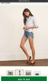 Abercrombie Low Rise Denim Shorts