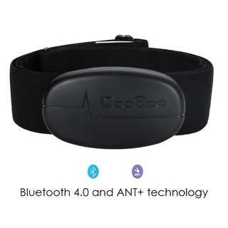 256. Smart Cardio Bluetooth 4.0 and ANT+ Wireless Heart Rate Monitor with Soft Chest Strap for iPhone and Android