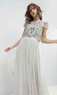 Needle & Thread Daisy Embroidered Top + Maxi Tulle Skirt