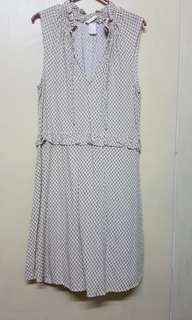 H&M collared sleeveless dress