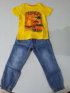Jogger pants and shirt