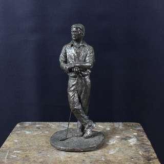 高爾夫球人型銅像