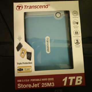 TRANSCEND USB 3.1/3.0 PORTABLE HARD DRIVE GARANSI 3 THN TERLARIS TERMURAH