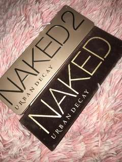 Urban Decay Naked one and Naked 2 Authentic