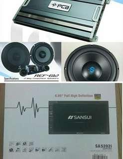 SANSUI paket audio mobil Bisa cicilan