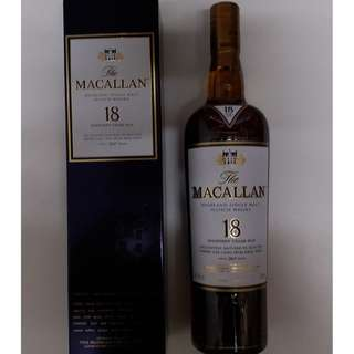 Macallan 18 year old Sherry Oak (2017)