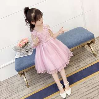 Fashion baby girl wedding dinner dress