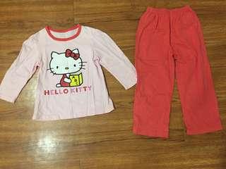 Hello Kitty Girls Pyjamas (4-5yo)