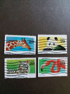 美國郵票 已銷郵票一套4全