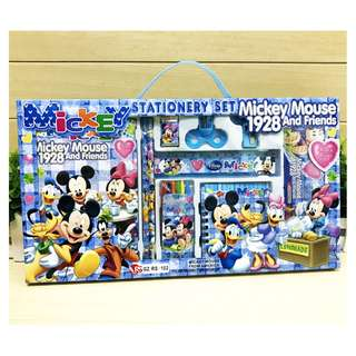 8 in 1 Set - Brand New Christmas Xmas Gift Set Mickey Mouse Stationery Gift Box Set 8 in 1 Primary school kindergarten children kids learning gifts Birthday party