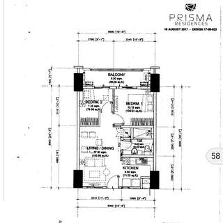 pre Selling 2 bedroom condo in Pasig for sale by DMCI Prisma Residences near C5 Tiendesitas Ortigas & BGC CBD SM Megamall SM Aura Market Market