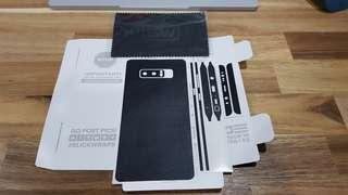 Galaxy Note 8 Slickwrap Black Leather Skins