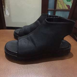 Black MKS boat shoes