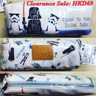日本直送-結業清貨價 Star Wars 筆袋, 長18.5cm, 闊3cm, 高7cm,