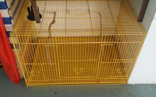 Cage 2ft x 1ft 3inch x 1ft 3inch yellow color.