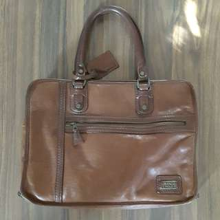 vintage classic MARCO POLO leather bag made in italy