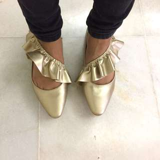 Pointed Ballerinas with Frills