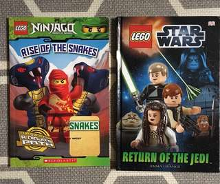 Lego Star Wars n Ninjago books